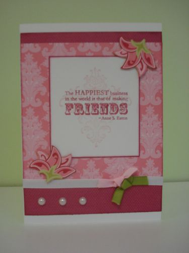 Raspberry tart card