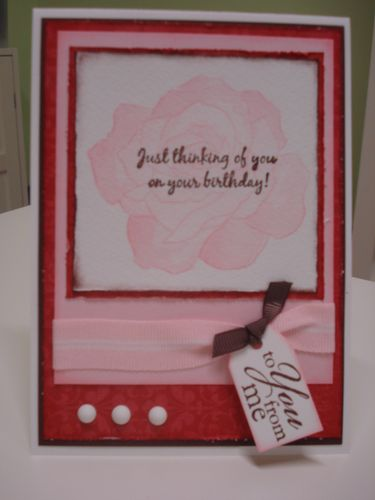 Pink fifth avenue card