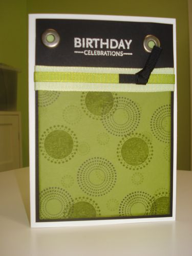 Spotty bday card