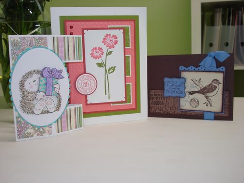 Cards from stamping group friends