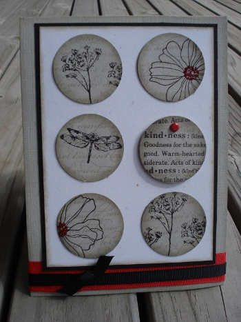 Neutrals,red circles card front