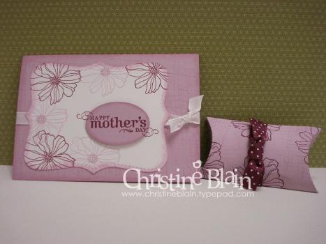 Fifth avenue floral plum card & pillow box