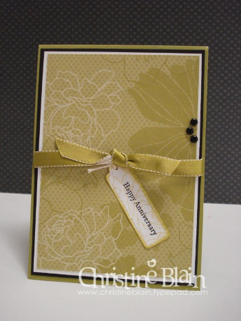 Fifth avenue floral anniversary card