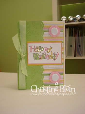 Celery,pink stripe card