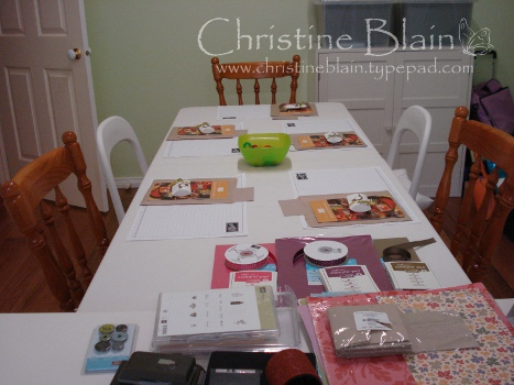 Autumn-Winter Mini catalogue launch table ready