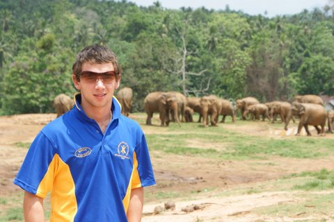 Jack with elephants