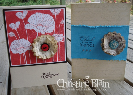 Scalloped flower cards bold